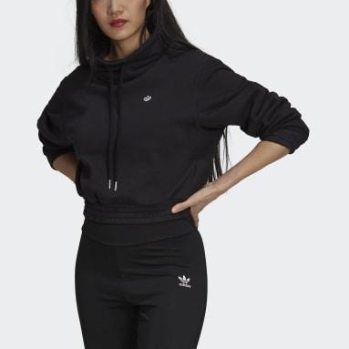 Kadın Originals Siyah Adicolor Funnel Neck Sweatshirt