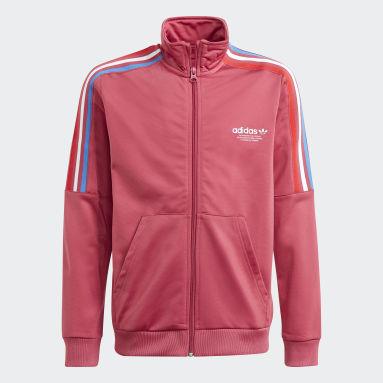 Børn Originals Pink Adicolor træningsjakke