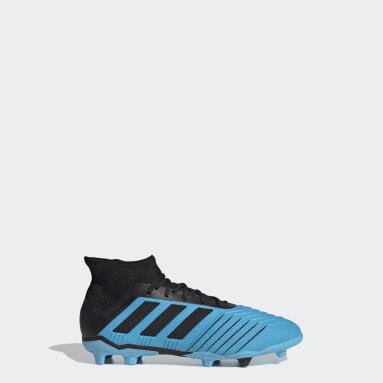 Chaussure Predator 19.1 Terrain souple Turquoise Enfants Football