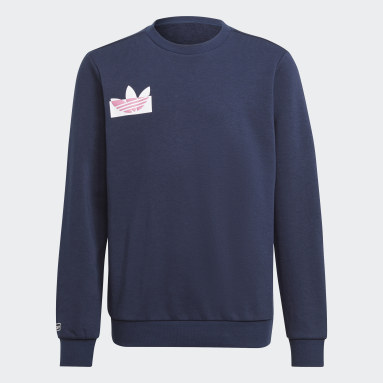 Youth Originals Blue Graphic Crew Sweatshirt
