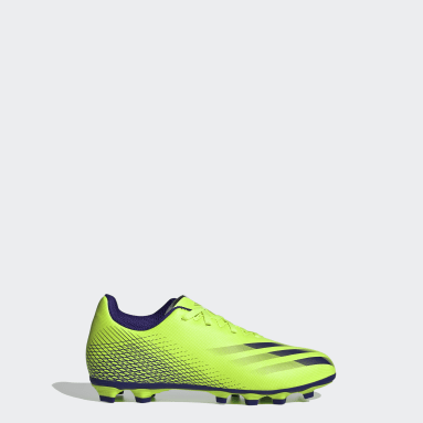 Boys Football Green X Ghosted.4 Flexible Ground Boots