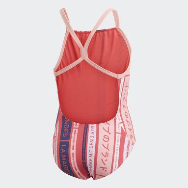 Mädchen Schwimmen Graphic Badeanzug Rosa