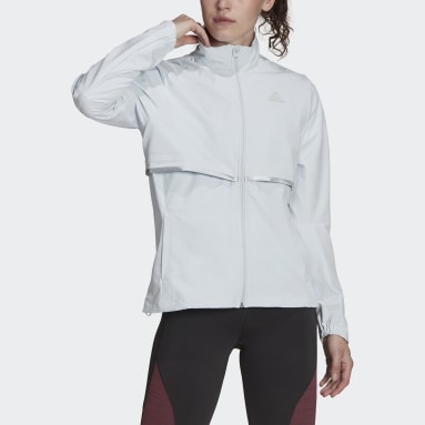 Chaqueta adidas Own The Run Soft Shell Azul Mujer Running