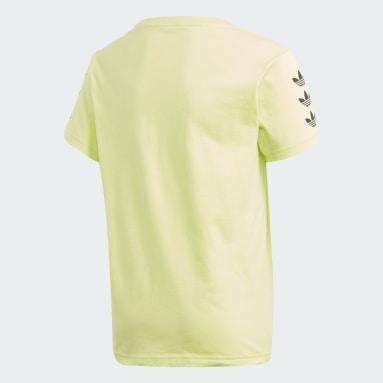 Youth 8-16 Years Originals Yellow Trefoil T-Shirt