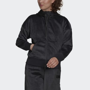 Felpa con cappuccio adidas Sportswear Future Icons Corduroy Grigio Donna Sportswear
