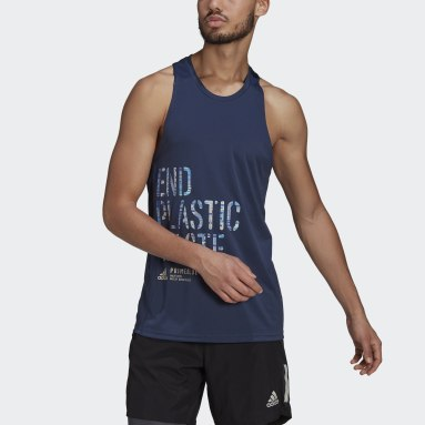 Camiseta sin mangas Run for the Oceans Graphic Azul Hombre Running