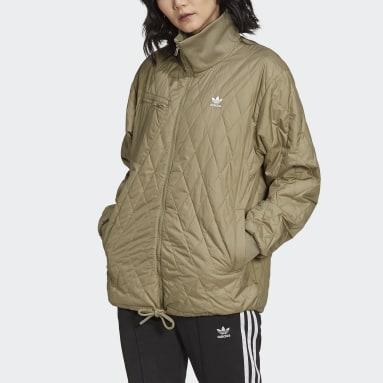 Women Originals Green Adicolor Classics Quilted Jacket