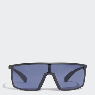 Padel Tennis Black SP0004 Shiny Black Injected Sport Sunglasses