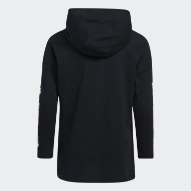 Youth Training Black Hooded Graphic Tee