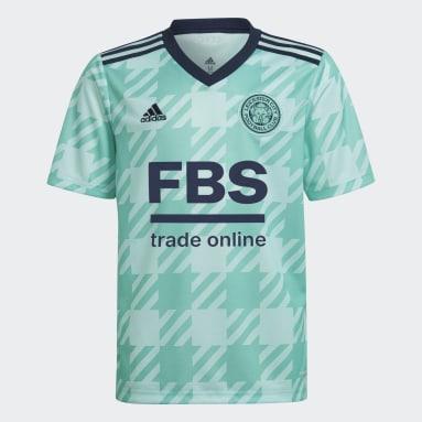 Børn Fodbold Grøn Leicester City 21/22 udebanetrøje