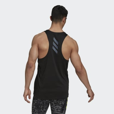 Camiseta sin mangas Runner Negro Hombre Running