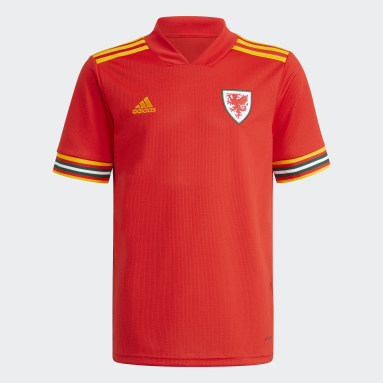 Youth 8-16 Years Football Red Wales 20/21 Home Jersey