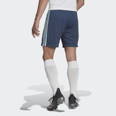 Fotbal modrá Venkovní šortky Leicester City FC 21/22