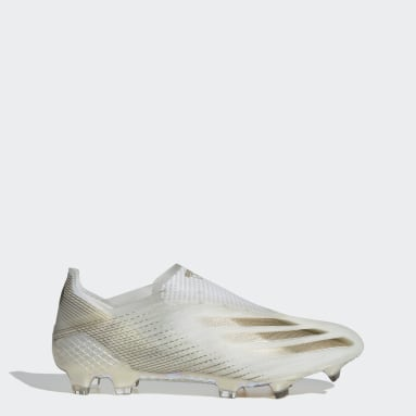 Botines X Ghosted+ Terreno Firme Blanco Hombre Fútbol