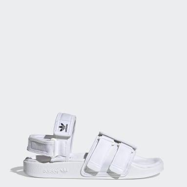 Originals สีขาว รองเท้าแตะ New Adilette