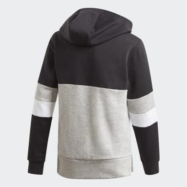 Sudadera Linear Colorblock Hooded Fleece Negro Niño Sportswear