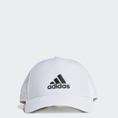 Lightweight Embroidered Baseball Caps Hvit
