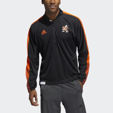 Men's Training Multicolor Hurricanes Long Sleeve Quarter-Zip Knit Sweatshirt