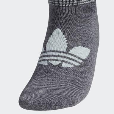 Women Originals Grey Trefoil Superlite No-Show Socks 6 Pairs