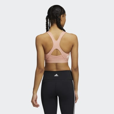 Sujetador Believe This Medium-Support Workout Logo Rosa Mujer Trail Running