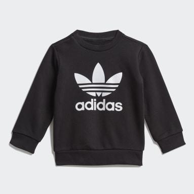 Ensemble Crew Sweatshirt Noir Enfants Originals
