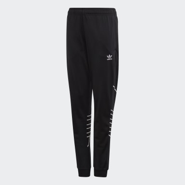 Youth Originals Black Large Trefoil Pants