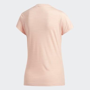 Women Field Hockey Pink Badge of Sport T-Shirt