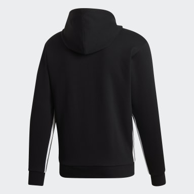 Sueter con Capucha Must Haves 3 Rayas Negro Hombre Sportswear