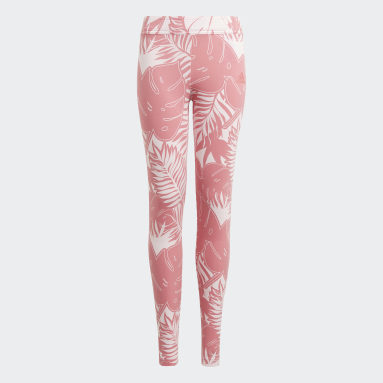 Girls Training Pink Future Icons Graphic Tights