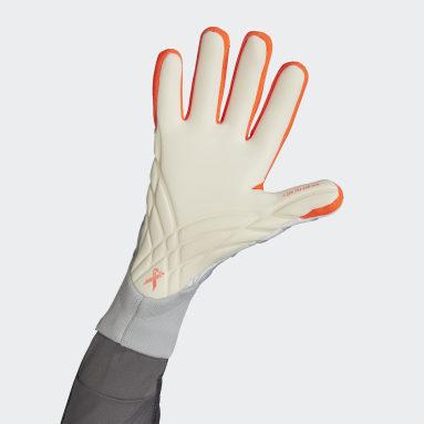Football White X Pro Goalkeeper Gloves