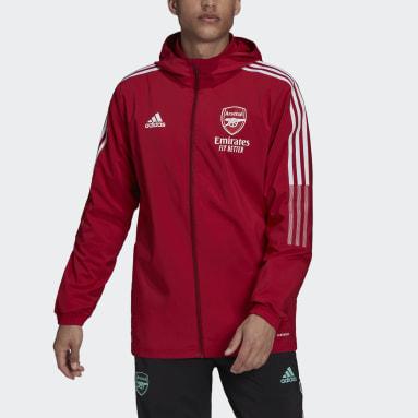 Männer Fußball FC Arsenal Tiro Präsentationsjacke Weinrot