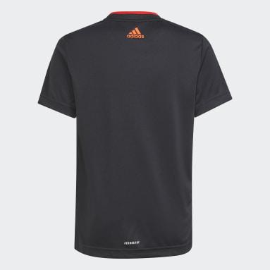 เด็กผู้ชาย เทรนนิง สีดำ เสื้อยืดสไตล์ฟุตบอล AEROREADY X