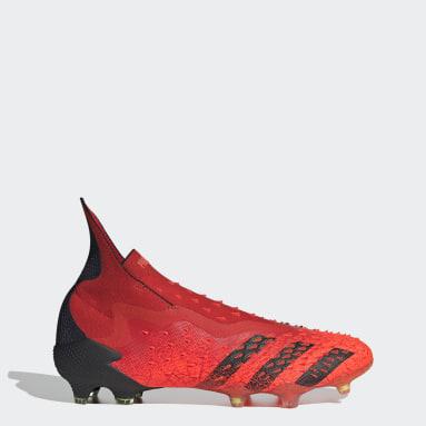 Calzado de Fútbol Predator Freak+ Terreno Firme Rojo Hombre Fútbol