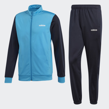 Men Gym & Training Turquoise Linear Tricot Tracksuit