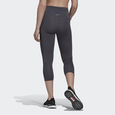 Leggings 3/4 da running Own The Run Grigio Donna HIIT