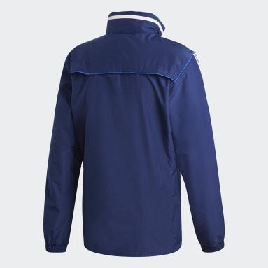 Mænd Fitness Og Træning Blå Tiro 19 All-Weather jakke
