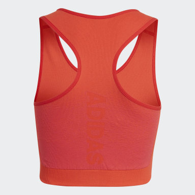 Débardeur Aeroknit AEROREADY Training Seamless Fitted Rouge Filles Fitness Et Training