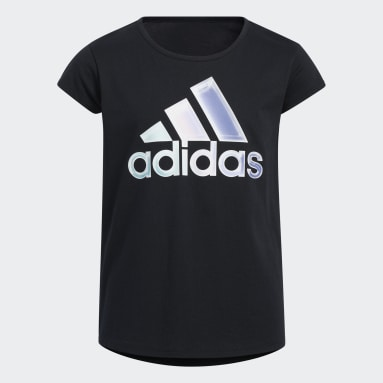 Youth Running Black Graphic Scoop Tee