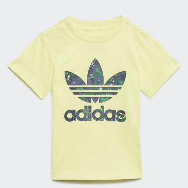 Camo Print Graphic T-skjorte Gul