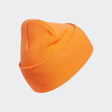 Originals Orange Oversize Cuff Beanie