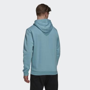 Men Sport Inspired Green Essentials Fleece Hoodie