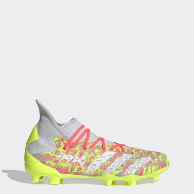 Men Football Grey Predator Freak.3 Firm Ground Boots