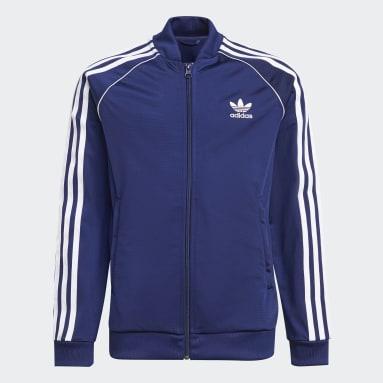синий Олимпийка Adicolor SST