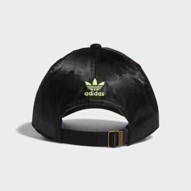 Women's Originals Black Relaxed Metallic Strap-Back Hat
