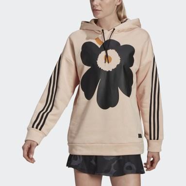 Women's Sportswear Pink adidas Sportswear Marimekko Fleece Hooded Sweatshirt