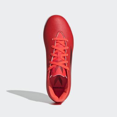 Chuteira X Speedflow.4 Futsal Vermelho Kids Futebol