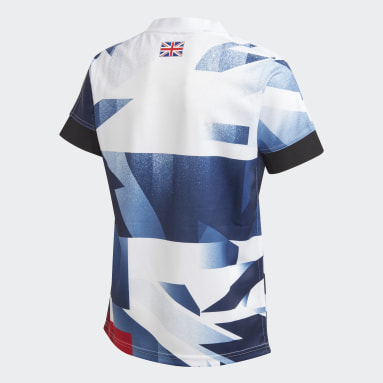 Youth 8-16 Years Gym & Training White Team GB Rugby Jersey