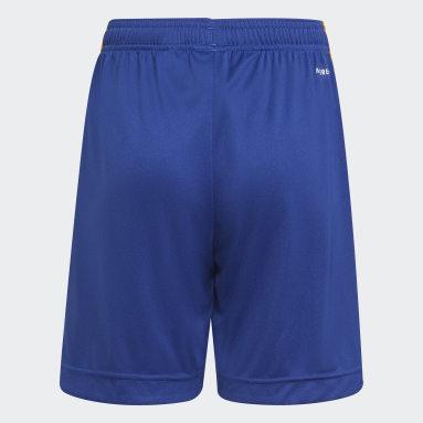 Kids Football Blue Real Madrid 21/22 Away Shorts