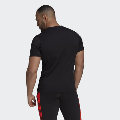 Men Rugby Black All Blacks Rugby Cotton Tee