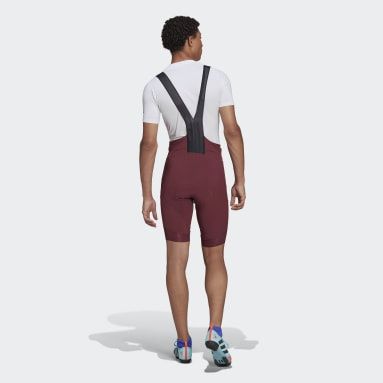 Culote con tirantes The Padded Adiventure Cycling Burgundy Hombre Ciclismo
